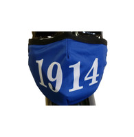Phi Beta Sigma Fraternity Face Mask- Blue- Founding Year