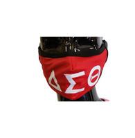 Delta Sigma Theta Sorority Face Mask- Classic Style- Three Greek Letters