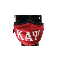Kappa Alpha Psi Fraternity Face Mask- Classic Style- Three Greek Letters