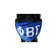 Phi Beta Sigma Fraternity Face Mask- Classic Style- Three Greek Letters
