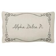 Alpha Delta Pi ADPI Sorority Decorative Pillow