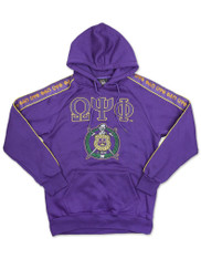 Omega Psi Phi Fraternity Hoodie with Stripe