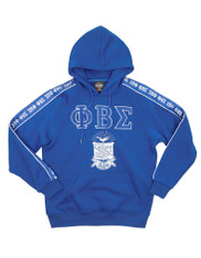 Phi Beta Sigma Fraternity Hoodie with Stripe