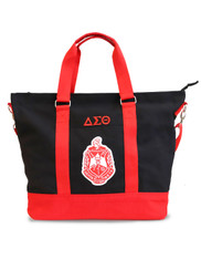 Delta Sigma Theta Sorority Canvas Bag- Black/Red