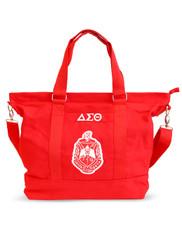 Delta Sigma Theta Sorority Canvas Bag- Red/White
