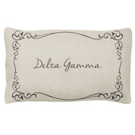 Delta Gamma Sorority Decorative Pillow