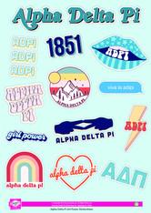 Alpha Delta Pi ADPI Sorority Stickers- Girl Power