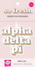 Alpha Delta Pi ADPI Sorority Retro Air Freshener