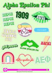 Alpha Epsilon Phi AEPHI Sorority Stickers- Girl Power