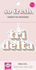 Delta Delta Delta Tri-Delta Sorority Retro Air Freshener
