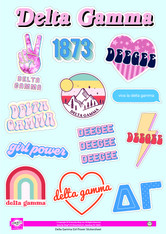 Delta Gamma Sorority Stickers- Girl Power