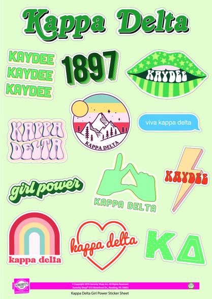 Kappa Delta Sorority Stickers- Girl Power