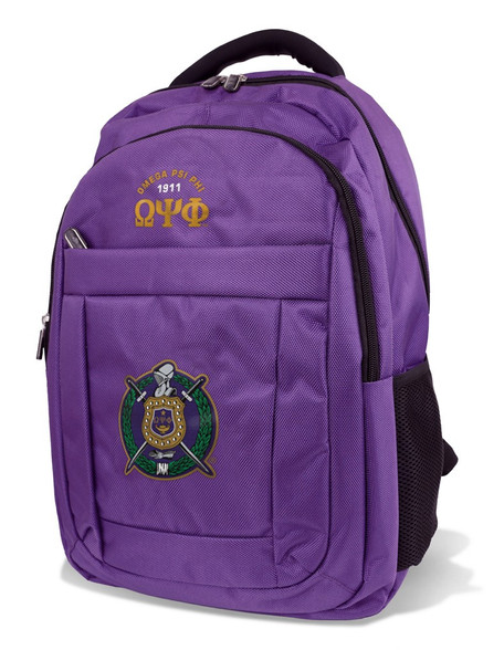 Omega Psi Phi Fraternity Backpack- Style 2