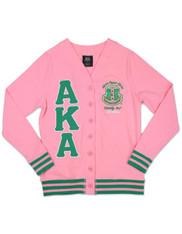 Alpha Kappa Alpha AKA Sorority Lightweight Cardigan- Pink/Green