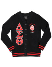 Delta Sigma Theta Sorority Lightweight Cardigan- Black/Red