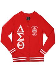 Delta Sigma Theta Sorority Lightweight Cardigan- Red/White