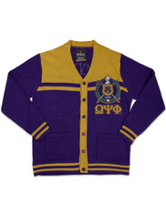 Omega Psi Phi Fraternity Button Down Sweater- Front