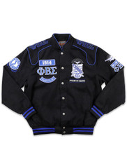 Phi Beta Sigma Fraternity Racing Jacket-Front