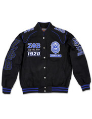 Zeta Phi Beta Sorority Racing Jacket-Front