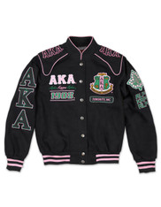 Alpha Kappa Alpha AKA Sorority Racing Jacket- Front