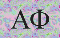 Alpha Chi Omega Sorority Flag- Iridescent Black Light