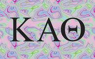 Kappa Alpha Theta Sorority Flag- Iridescent Black Light