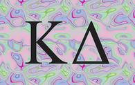 Kappa Delta Sorority Flag- Iridescent Black Light
