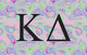 Kappa Delta Sorority Flag- Iridescent Black Light