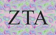 Zeta Tau Alpha ZTA Sorority Flag- Iridescent Black Light