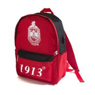 Delta Sigma Theta Sorority Backpack-Black/Red
