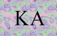 Kappa Alpha Fraternity Flag- Iridescent Black Light