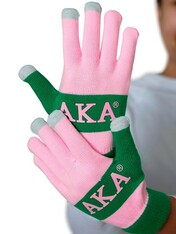 Alpha Kappa Alpha AKA Knit Texting Gloves