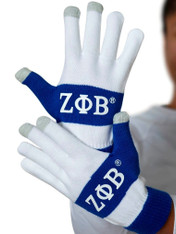Zeta Phi Beta Sorority Knit Texting Gloves