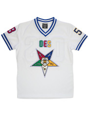 Order of the Eastern Star OES Football Jersey-White