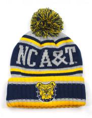 North Carolina A&T State University Beanie- Gray