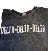 Delta Delta Delta Tri-Delta Sorority Mineral Wash Shirt