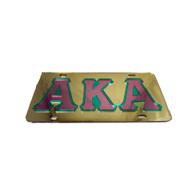 Alpha Kappa Alpha AKA Sorority License Plate-Gold