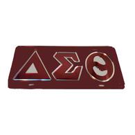 Delta Sigma Theta Sorority License Plate-Red