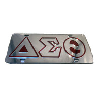 Delta Sigma Theta Sorority License Plate-Silver