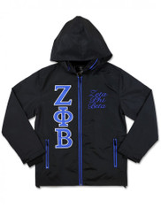 Zeta Phi Beta Sorority Windbreaker- Black
