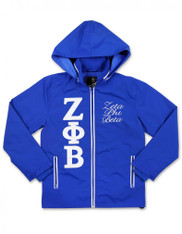 Zeta Phi Beta Sorority Windbreaker- Blue