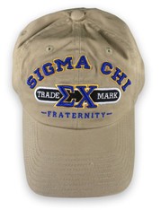 Sigma Chi Fraternity Trademark Hat- Khaki