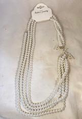 Alpha Kappa Alpha AKA Sorority Multi-Strand Pearl Necklace
