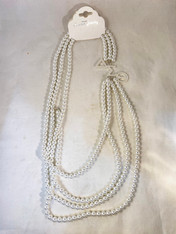 Delta Sigma Theta Sorority Multi-Strand Pearl Necklace