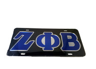 Zeta Phi Beta Sorority License Plate-Black