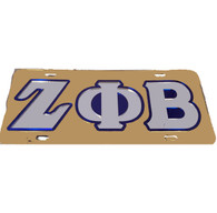 Zeta Phi Beta Sorority License Plate-Gold