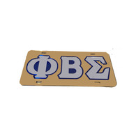 Phi Beta Sigma Fraternity License Plate-Gold