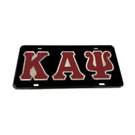 Kappa Alpha Psi Fraternity License Plate-Black