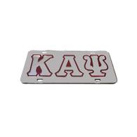 Kappa Alpha Psi Fraternity License Plate-Silver