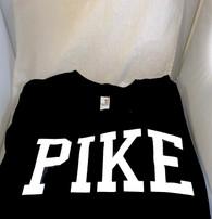 Pi Kappa Alpha PIKE Fraternity Long Sleeve Shirt- Black